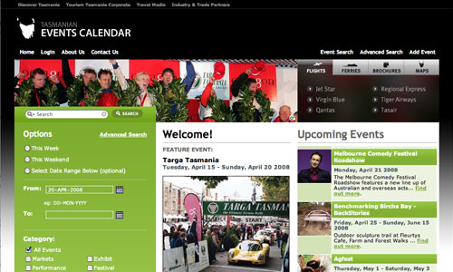 events.discovertasmania.com.au - image of website